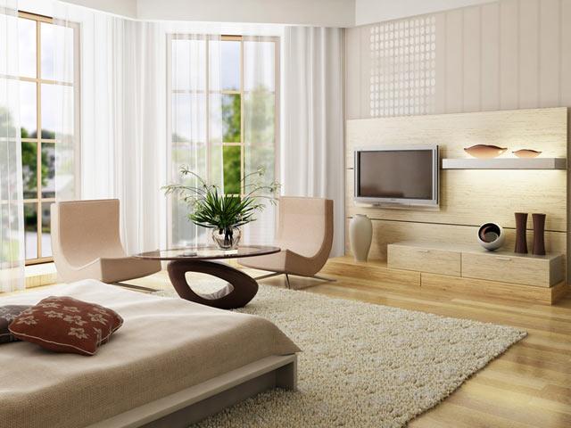Интерьер трехкомнатной квартиры п44т