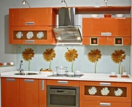 интерьер кухни обои:
